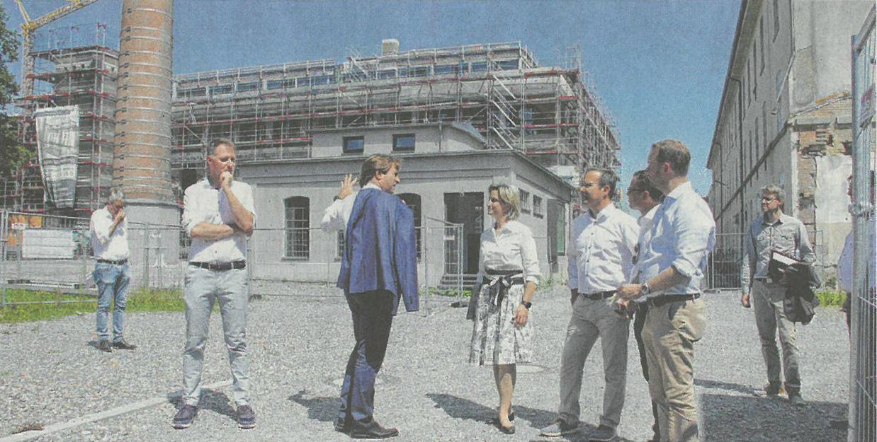 Vertreter der hiesigen CDU, auf dem Bild von vorne rechts: Christian Natterer, Mathias Bernhard, Raimund Haser und Johannes Sontheim